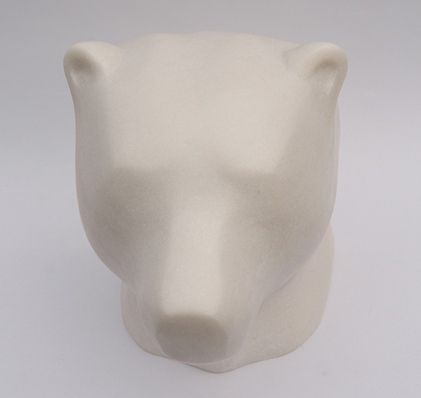 Polarbear, portret, marmor, 35cm h