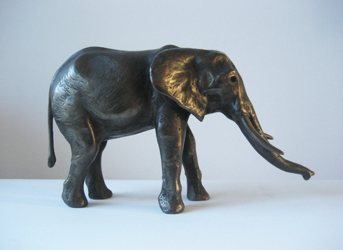 Afrikaanse Olifant, brons, 26cm lang, oplage 8