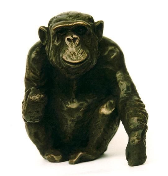 """Schimpanse """"Charlie"""", bronze, auflage voll"""