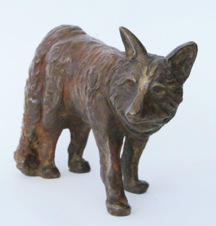 Rode Vos, brons, 12cm lang, oplage 8