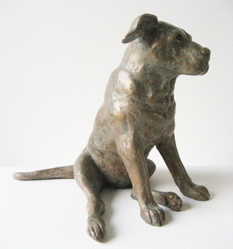 Dog Juno, bronze, 20cm h, commission