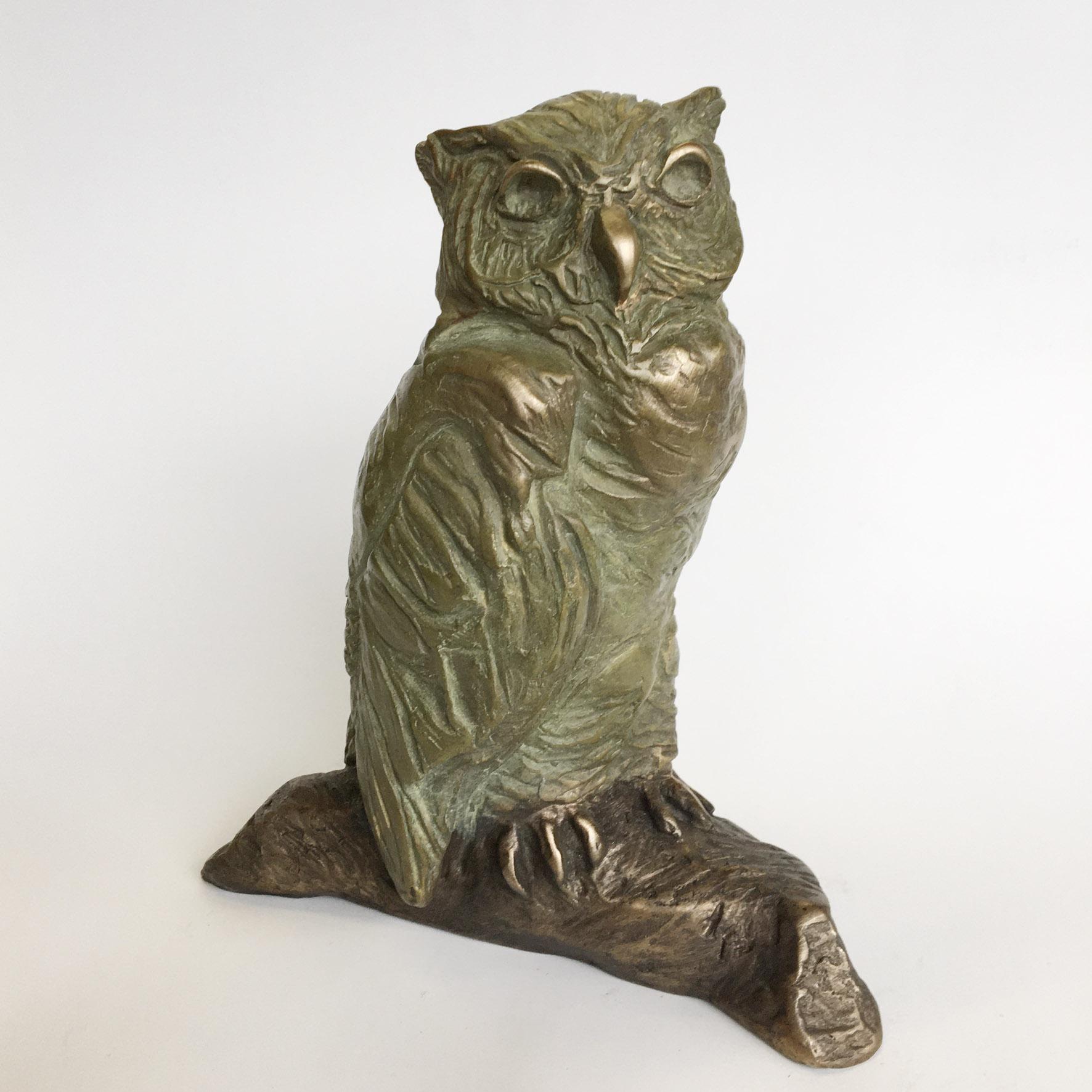 Grijze oehoe Pompidou, brons, 18cm hoog, beschikbaar/niet gegoten € 750